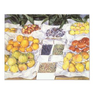 """La fruta hace una pausa a Gustave Caillebotte, Invitación 4.25"""" X 5.5"""""""