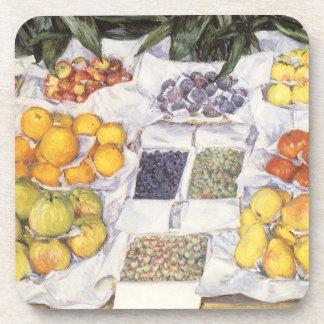 La fruta hace una pausa a Gustave Caillebotte, Posavaso