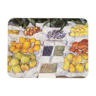 La fruta hace una pausa a Gustave Caillebotte, Rectangle Magnet