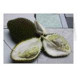 La fruta infame del Durian Felicitación