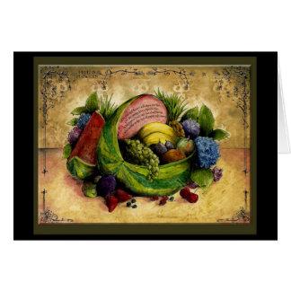 La fruta n florece la 4ta tarjeta del aniversario