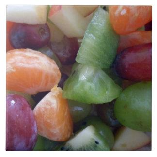 La fruta platea las tejas