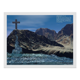 La fuente de aguas vivas póster