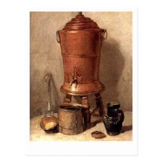 La fuente de consumición de cobre postal