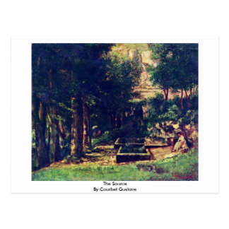La fuente de Courbet Gustavo Tarjeta Postal