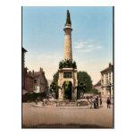 La fuente de elefantes, vintag de Chambery, Franci Tarjeta Postal