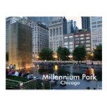 La fuente de la corona, parque del milenio, Chicag Postales