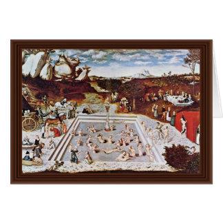 La fuente de la juventud por Cranach D. Ä. Lucas ( Felicitacion
