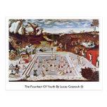 La fuente de la juventud por Lucas Cranach (i) Tarjetas Postales