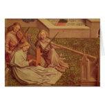 La fuente de la tolerancia, detalle del ángel tres tarjeta de felicitación