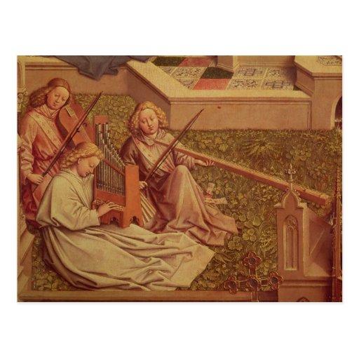 La fuente de la tolerancia, detalle del ángel tres tarjeta postal