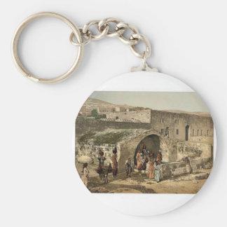 La fuente de la virgen Nazaret Tierra Santa es Llavero