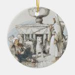 La fuente de los leones, ilustración de 'bosquejos adorno navideño redondo de cerámica