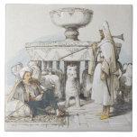 La fuente de los leones, ilustración de 'bosquejos azulejo cuadrado grande