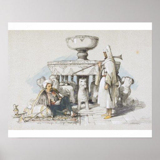 La fuente de los leones, ilustración de 'bosquejos poster