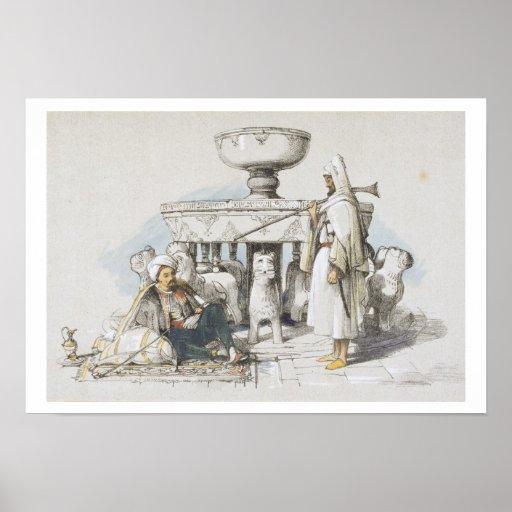 La fuente de los leones, ilustración de 'bosquejos póster