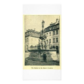 La fuente de San Pedro, Trier, Treve Tarjetas Fotográficas