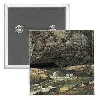 La fuente del Loue o del La Grotte Sarrazine Pin Cuadrada 5 Cm
