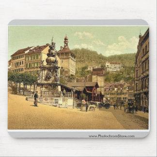 La fuente del mercado, Carlsbad, Bohemia, Austro-H Alfombrilla De Ratones
