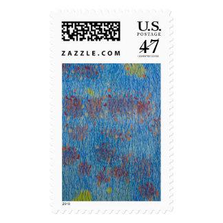 La fuente del poeta sello postal
