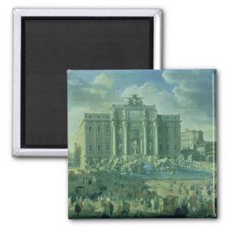 La fuente del Trevi en Roma, 1753-56 Iman