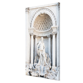La fuente del Trevi (italiano: Fontana di Trevi) 3 Lona Envuelta Para Galerias