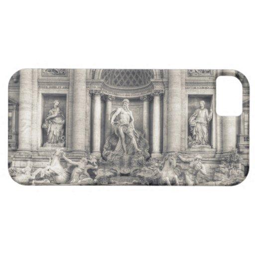 La fuente del Trevi (italiano: Fontana di Trevi) 4 iPhone 5 Protectores