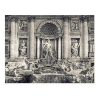 La fuente del Trevi (italiano: Fontana di Trevi) 4 Postal