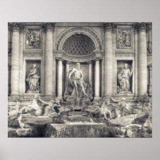 La fuente del Trevi (italiano: Fontana di Trevi) 4 Póster