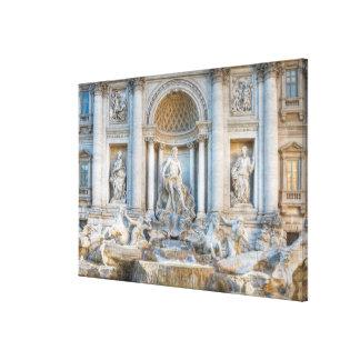 La fuente del Trevi (italiano: Fontana di Trevi) 5 Impresiones En Lona