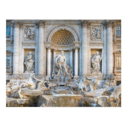 La fuente del Trevi (italiano: Fontana di Trevi) 5 Postal
