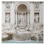 La fuente del Trevi (italiano: Fontana di Trevi) Azulejo