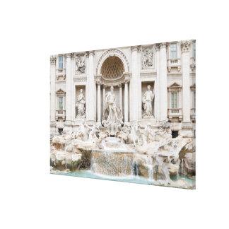 La fuente del Trevi (italiano: Fontana di Trevi) Impresion En Lona