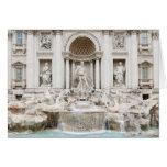 La fuente del Trevi (italiano: Fontana di Trevi) Tarjetón