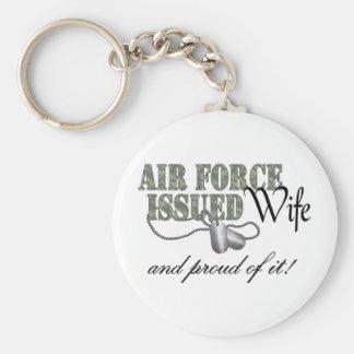 La fuerza aérea publicó a la esposa llavero redondo tipo pin
