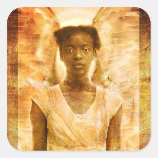 La fuerza de ángeles colcomanias cuadradas