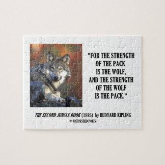 La fuerza del paquete es la cita de Kipling del lo Puzzle Con Fotos