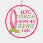 La fuerza del valor de la esperanza sobrevive fuer ornaments para arbol de navidad