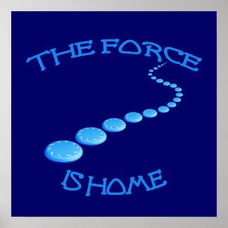 La fuerza es disco volador casero poster