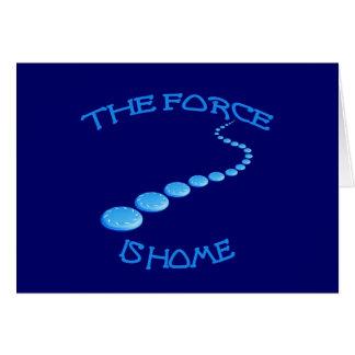 La fuerza es disco volador casero felicitaciones