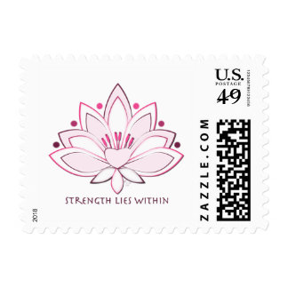 La fuerza rosada de la flor de Lotus miente dentro Sellos