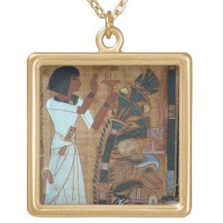 La fumigación de Osiris, página del libro del th Colgantes Personalizados