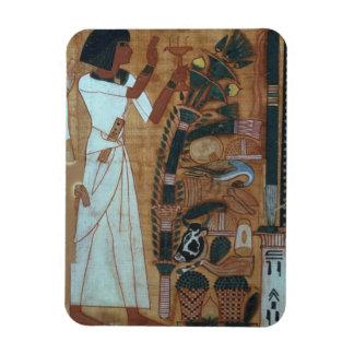 La fumigación de Osiris, página del libro del th Imanes Rectangulares
