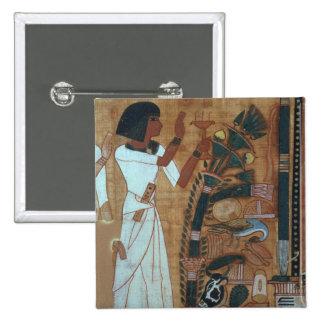 La fumigación de Osiris, página del libro del th Pin Cuadrada 5 Cm