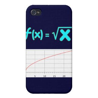 La función de raíz cuadrada f (x) = raíz cuadrada  iPhone 4 funda