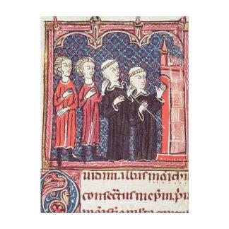 La fundación de un monasterio impresiones en lienzo estiradas