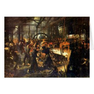 La fundición - Adolph Von Menzel Tarjeta De Felicitación