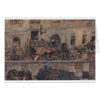 La fundición de hierro en Kitschelt Skodagasse en Tarjeta De Felicitación