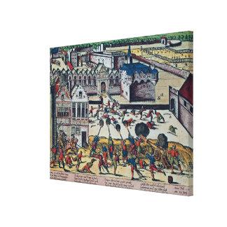 La furia de Haultepenne en 1581 Impresión En Lienzo Estirada