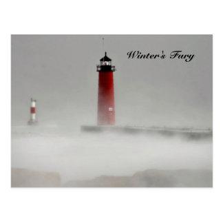 La furia del invierno tarjeta postal